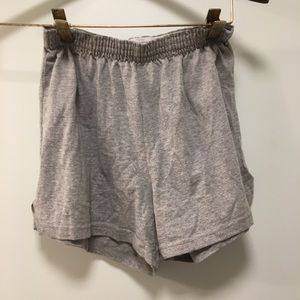 SOFFEE solid gray shorts size small elastic waist